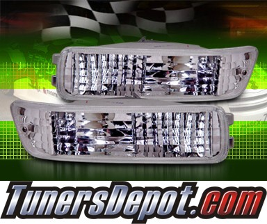 TD® Front Bumper Signal Lights (Clear) - 92-93 Acura Integra