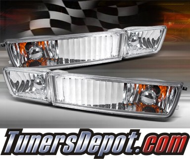 TD® Front Bumper Signal Lights (Clear) - 93-96 VW Jetta III with Fog Lights (Clear)