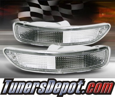 TD® Front Bumper Signal Lights (Clear) - 93-97 Toyota Corolla