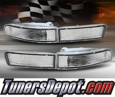 TD® Front Bumper Signal Lights (Clear) - 95-99 Nissan Maxima