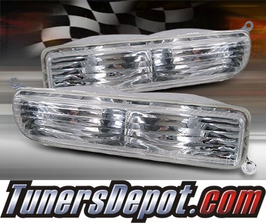 TD® Front Bumper Signal Lights (Clear) - 97-01 Jeep Cherokee
