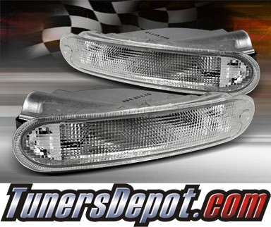 TD® Front Bumper Signal Lights (Clear) - 97-99 Chrysler Sebring
