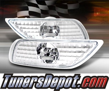 TD® Front Bumper Signal Lights (Euro Clear) - 00-06 Ford Focus