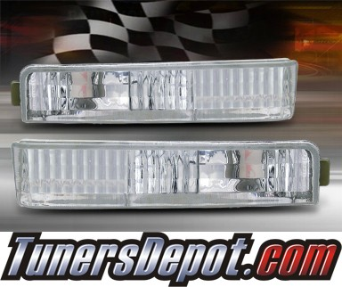 TD® Front Bumper Signal Lights (Euro Clear) - 90-91 Honda Accord