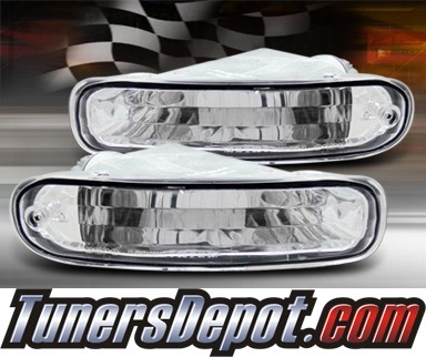TD® Front Bumper Signal Lights (Euro Clear) - 90-93 Toyota Celica