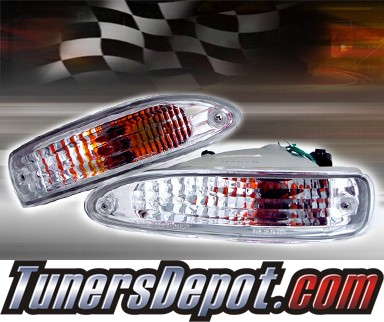 TD® Front Bumper Signal Lights (Euro Clear) - 91-94 Nissan 240SX S13