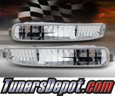 TD® Front Bumper Signal Lights (Euro Clear) - 92-93 Honda Accord