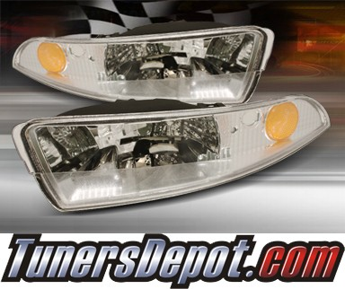 TD® Front Bumper Signal Lights (Euro Clear) - 93-02 Chevy Camaro w/ Amber Reflector