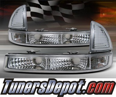 TD® Front Bumper Signal Lights (Euro Clear) - 97-04 Dodge Dakota