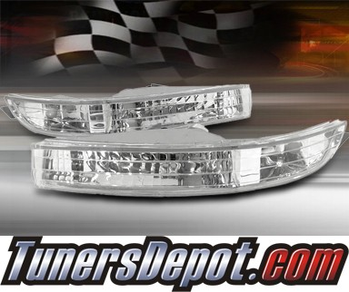 TD® Front Bumper Signal Lights (Euro Clear) - 97-99 Acura CL 3.0