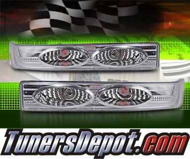 TD® Front Bumper Signal Lights (Euro Clear) - 98-04 Chevy S10 S-10 Blazer