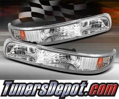TD® Front Bumper Signal Lights (Euro Clear) - 99-02 Chevy Silverado w/ Amber Reflector