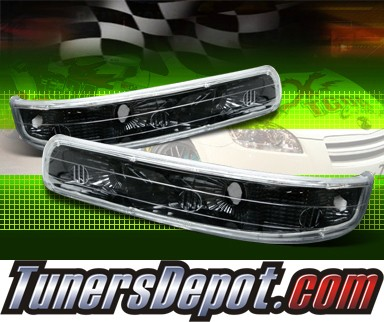 TD® Front Bumper Signal Lights (JDM Black) - 00-06 Chevy Tahoe
