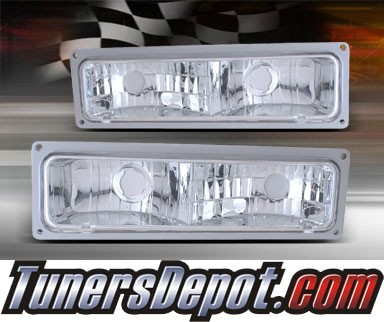 TD® Front Bumper Signal Parking Lights (Euro Clear) - 88-98 Chevy Full Size Pickup