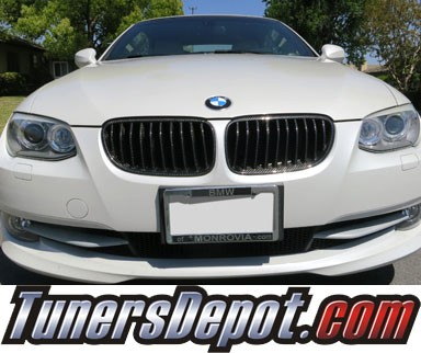 TD® Front Kidney Grilles (Carbon Fiber) - 11-13 BMW 335is 2dr Coupe/Convertible E92/E93 3 Series