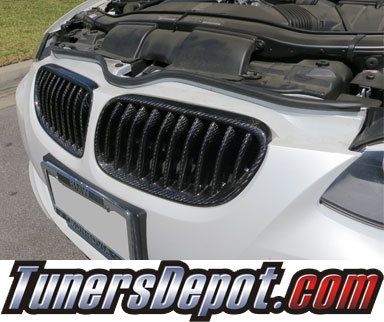 TD® Front Kidney Grills (FULL Carbon Fiber) - 11-13 BMW 335i 2dr Coupe/Convertible E92/E93 3 Series