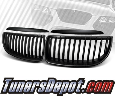 TD® Front Kidney Grills Grilles (Black) - 07-08 BMW 328xi 4dr Wagon E91