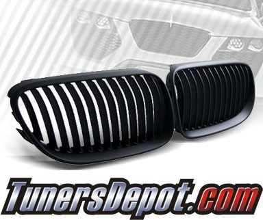 TD® Front Kidney Grills Grilles (Black) - 11-13 BMW 328i 2dr Coupe/Convertible E92/E93