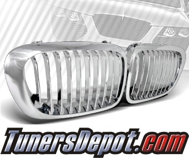 TD® Front Kidney Grills Grilles (Chrome) - 06-08 BMW 325i 4dr Wagon E91