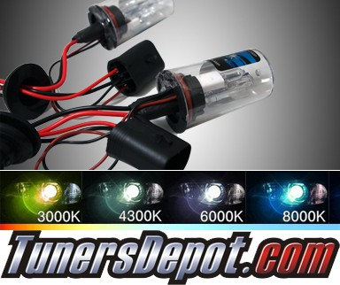 TD® HID Kit Replacement Bulbs - 6000K Universal 9007 with Halogen High Beam