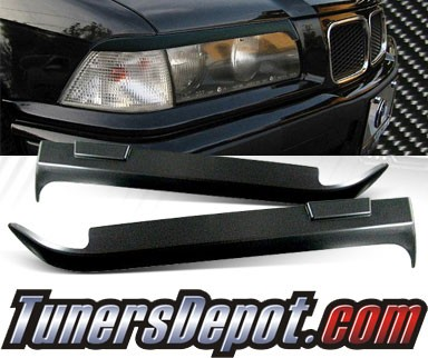 TD® Headlight Eye Lid Headlight Covers - 95-99 BMW M3 E36 (Eyelids/Eyebrows)