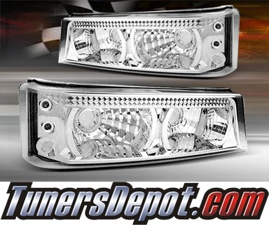 TD® LED Front Bumper Signal Lights (Euro Clear) - 03-06 Chevy Silverado
