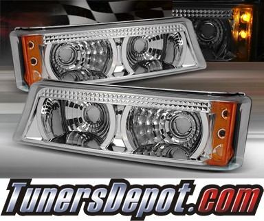 TD® LED Front Bumper Signal Lights (Euro Clear) - 03-06 Chevy Silverado w/ Amber Reflector