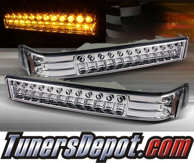 TD® LED Front Bumper Signal Lights (Euro Clear) - 98-04 Chevy S10 S-10 Blazer
