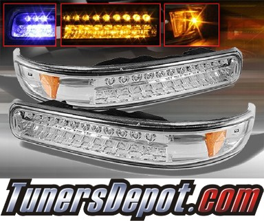 TD® LED Front Bumper Signal Lights (Euro Clear) - 99-02 Chevy Silverado