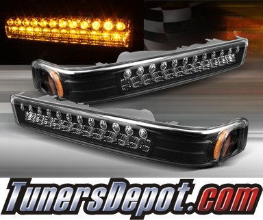 TD® LED Front Bumper Signal Lights (JDM Black) - 98-04 Chevy S10 S-10 Blazer