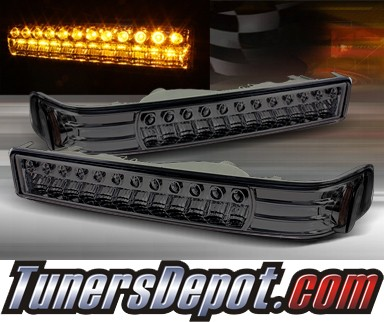 TD® LED Front Bumper Signal Lights (Smoke) - 98-04 Chevy S10 S-10 Blazer