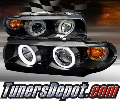 TD® LED Halo Projector Headlights (Black) - 95-01 BMW 740i E38 7 series
