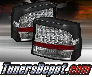 2007 dodge charger td led tail lights black alt jh dch05. Black Bedroom Furniture Sets. Home Design Ideas