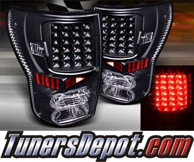TD® LED Tail Lights (Black) - 07-12 Toyota Tundra