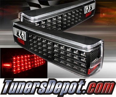 TD® LED Tail Lights (Black) - 87-93 Ford Mustang