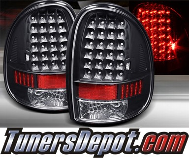 TD® LED Tail Lights (Black) - 96-00 Chrysler Town & Country