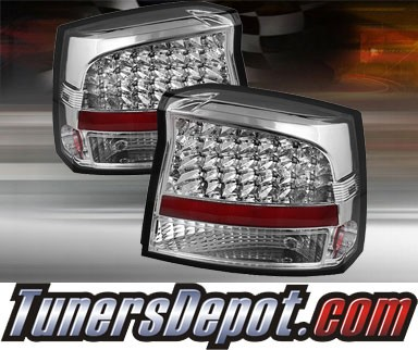 TD® LED Tail Lights (Chrome) - 06-08 Dodge Charger