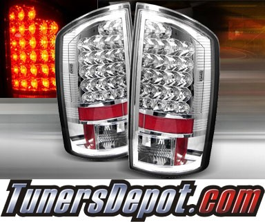 TD® LED Tail Lights (Chrome) - 07-08 Dodge Ram Pickup 1500