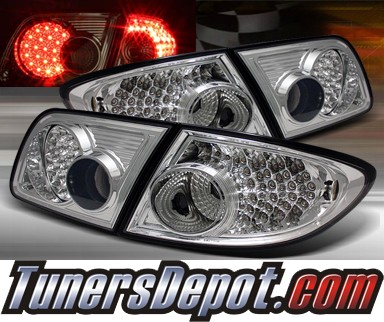 TD® LED Tail Lights (Clear) - 03-08 Mazda 6 4dr/5dr (Exc. Wagon)