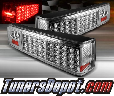 TD® LED Tail Lights (Clear) - 87-93 Ford Mustang
