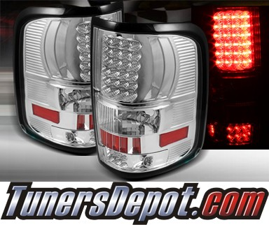TD® LED Tail Lights (Red/Clear) - 04-08 Ford F150 F-150 Fleetside