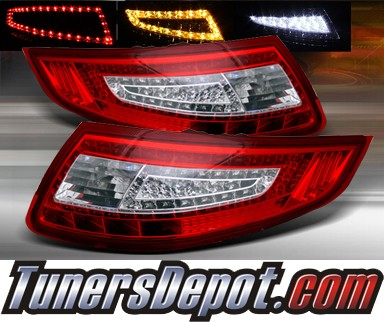 TD® LED Tail Lights (Red/Clear) - 05-08 Porsche 911 (Inc. Convertible)
