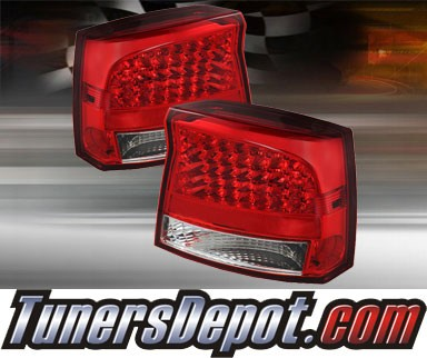 TD® LED Tail Lights (Red/Clear) - 06-08 Dodge Charger