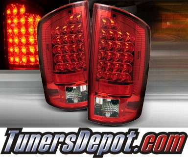 TD® LED Tail Lights (Red/Clear) - 07-08 Dodge Ram Pickup