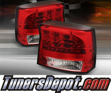 TD® LED Tail Lights (Red/Clear) - 09-10 Dodge Charger