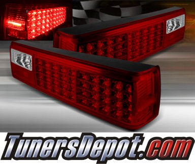 TD® LED Tail Lights (Red/Clear) - 87-93 Ford Mustang