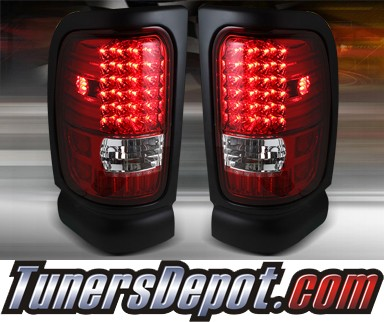 TD® LED Tail Lights (Red/Clear) - 94-01 Dodge Ram Pickup