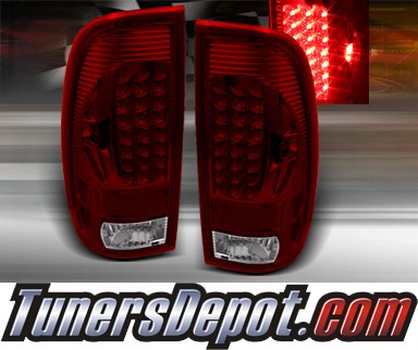 TD® LED Tail Lights (Red/Clear) - 97-03 Ford F150 F-150 Fleetside/Styleside Truck