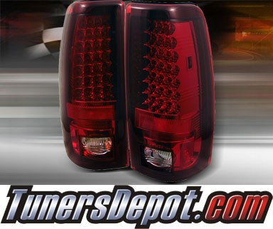 TD® LED Tail Lights (Red/Clear) - 99-02 Chevy Silverado