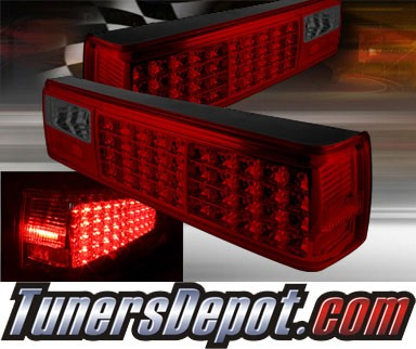 TD® LED Tail Lights (Red/Smoke) - 87-93 Ford Mustang